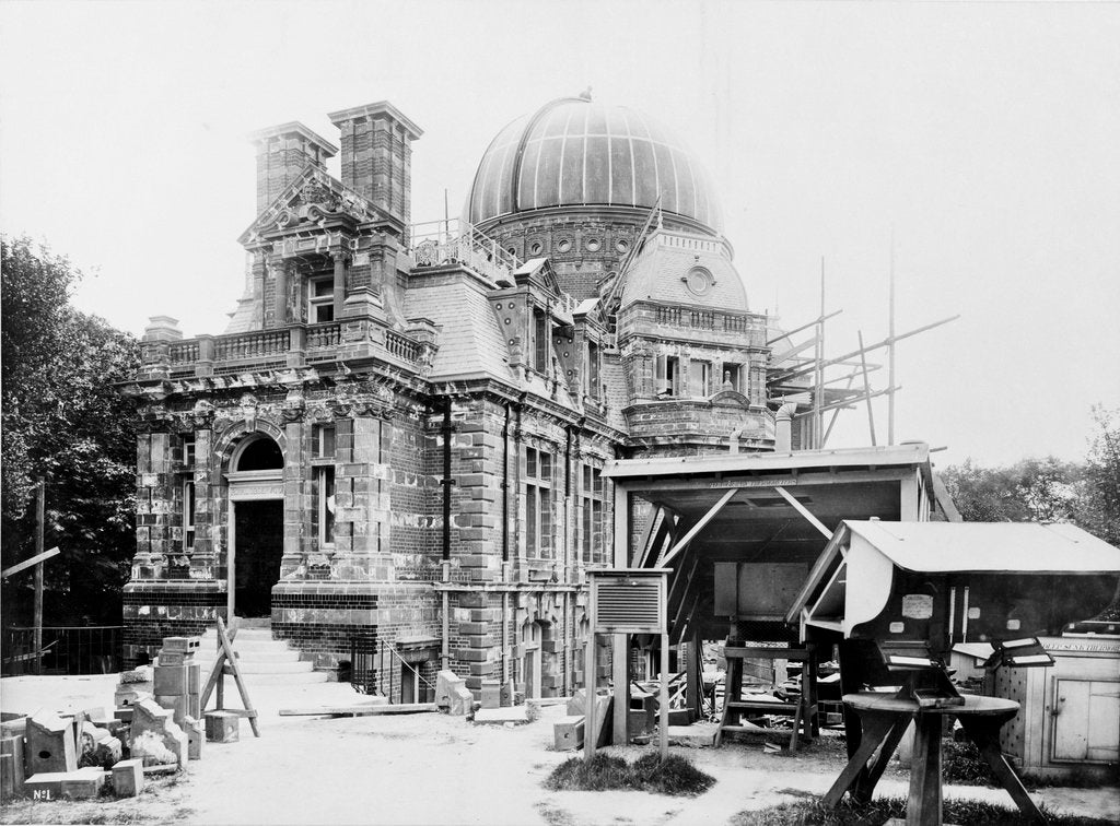 Detail of The South building under construction at the Royal Observatory, Greenwich by unknown