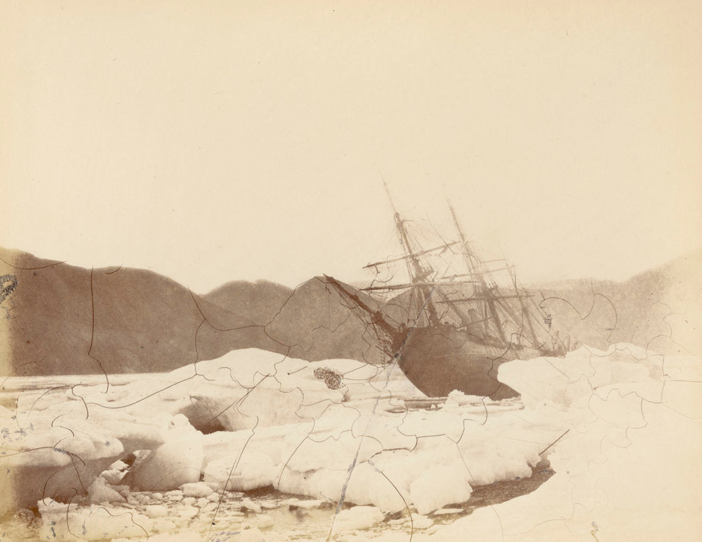 Detail of Rawlings Bay, 'Alert' onshore. View from under the bows at low water, August 1876. by unknown