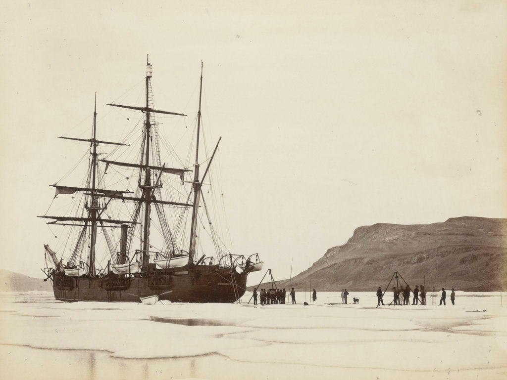 Detail of Alert' cutting into dock, Dobbin Bay, 13 August 1875 by unknown