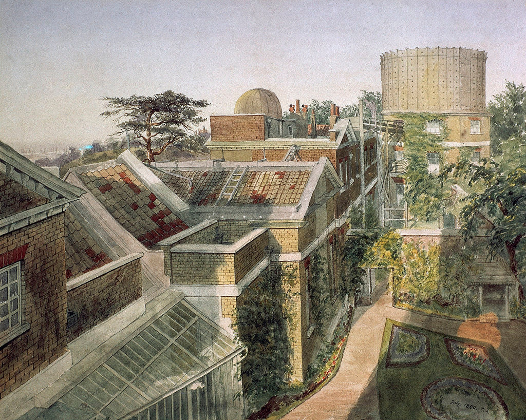 Detail of Elevated view of Royal Observatory, Greenwich by C.A.
