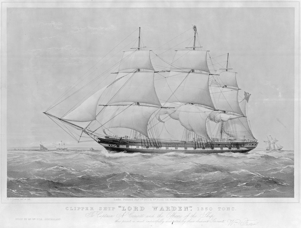 Clipper ship 'Lord Warden' 1350 Tons by Thomas Goldsworth Dutton