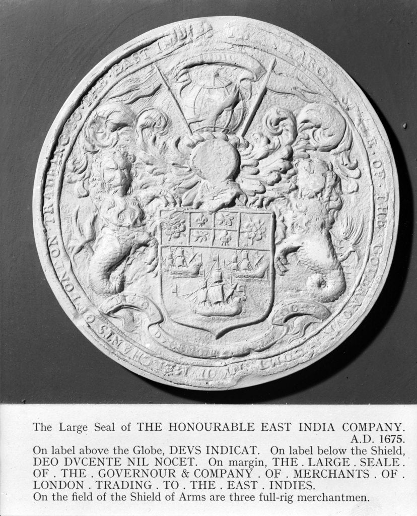 Detail of Seal of East India Company, 1675 by unknown