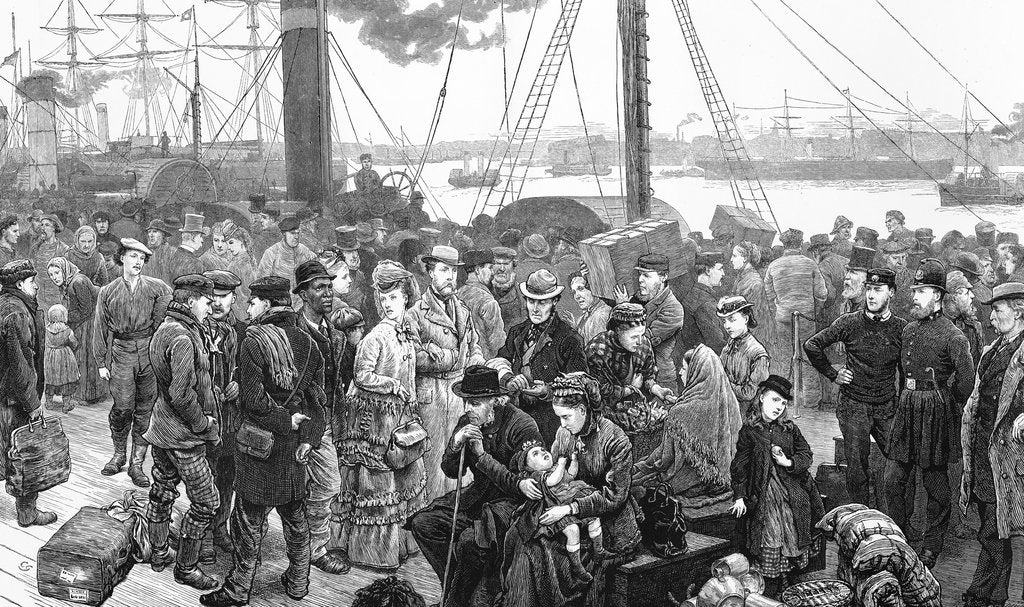 Detail of Princes Landing Stage (from 'Illustrated London News') by unknown