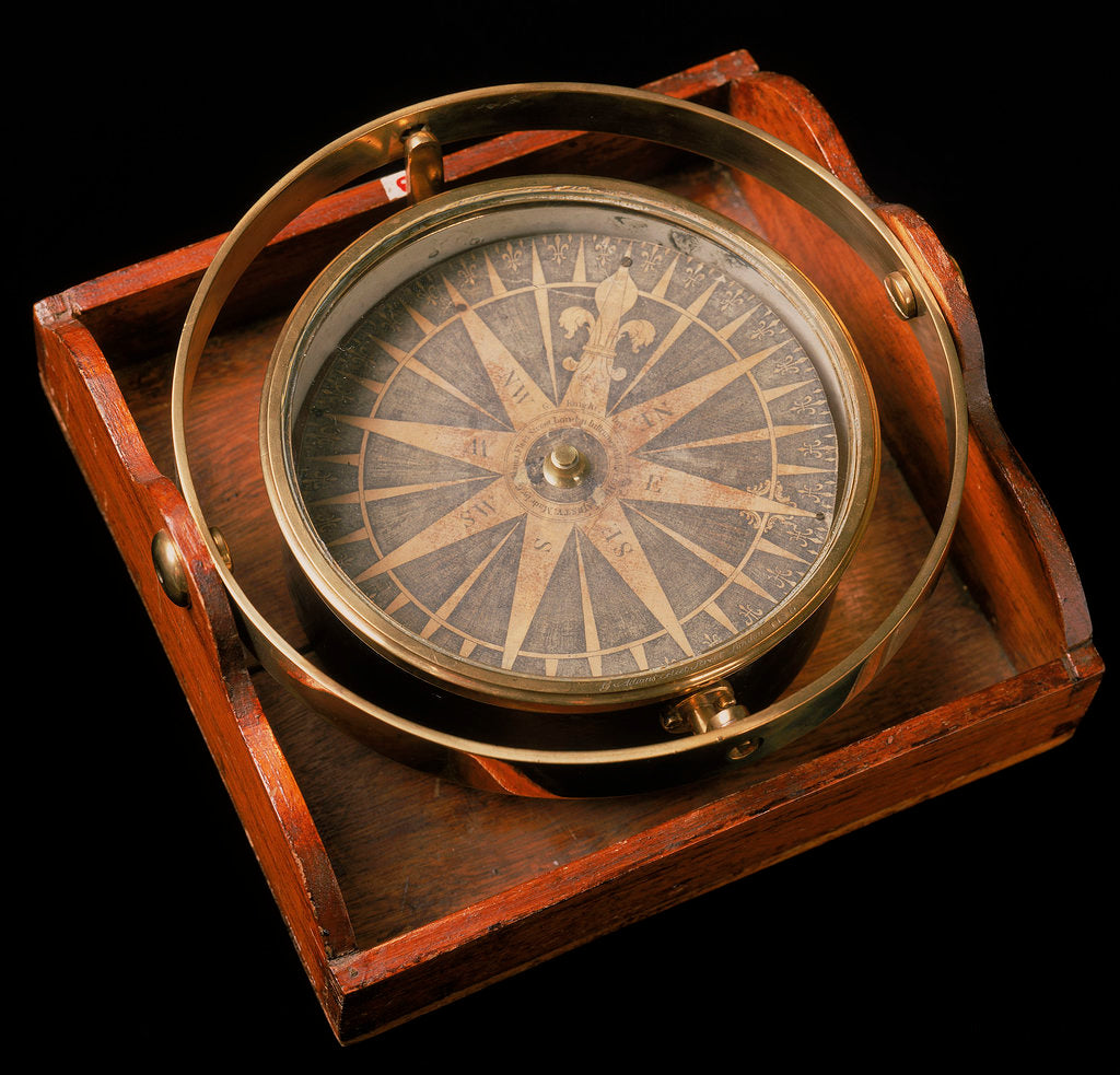 Detail of Steering Compass made by George Adams ca.1766 by George Adams