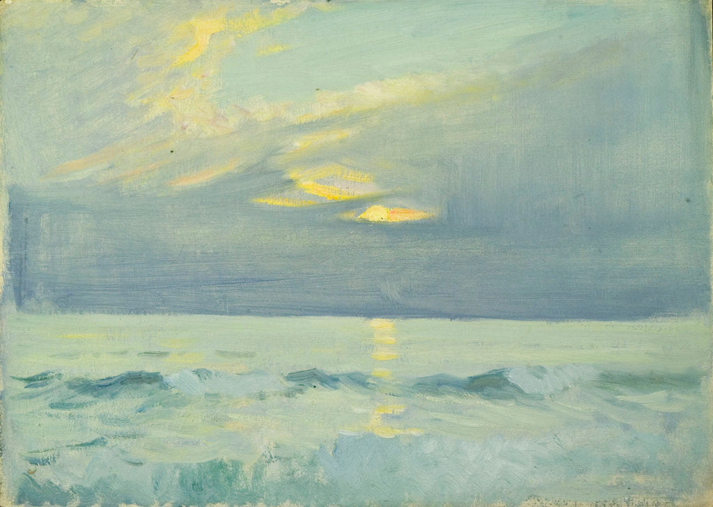 Detail of Seascape from Le Croisic by John Everett