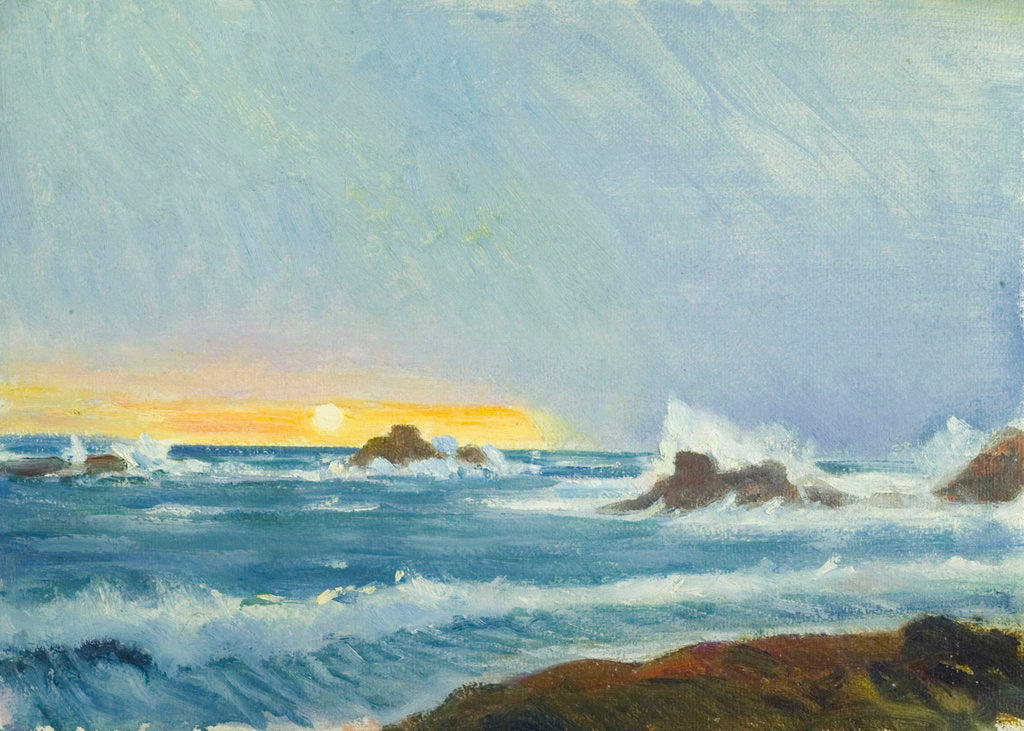 Detail of A coastal view, Grande Rocque by John Everett