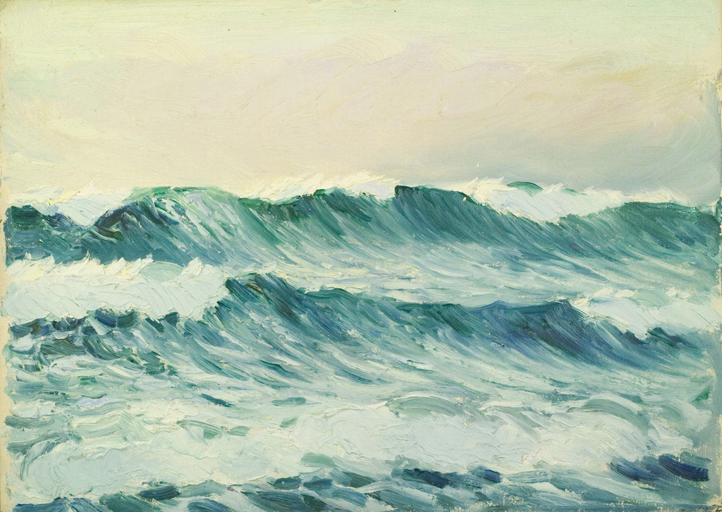 Detail of Seascape, Corbiere by John Everett