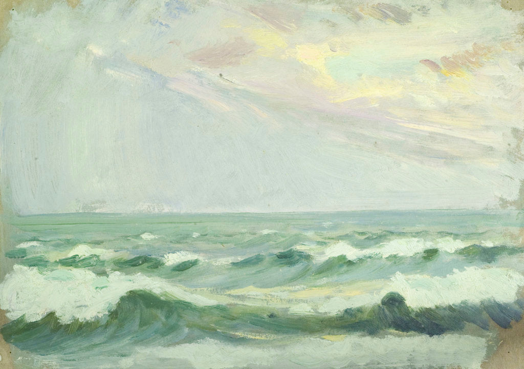 Detail of Seascape, Porthleven by John Everett