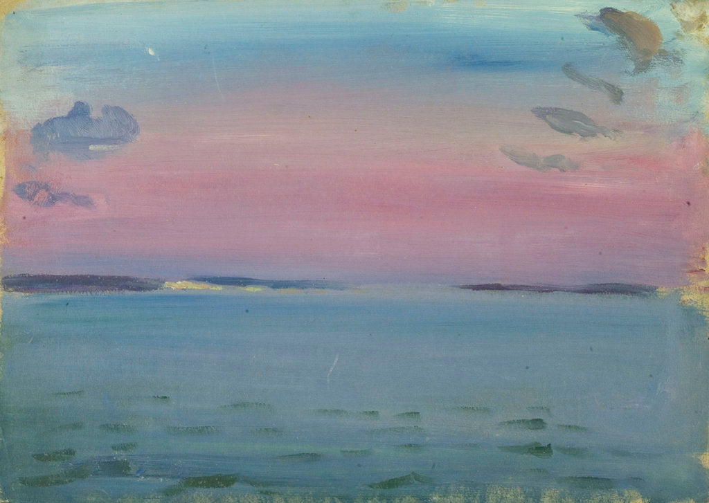 Detail of Seascape from the 'Birkdale' by John Everett