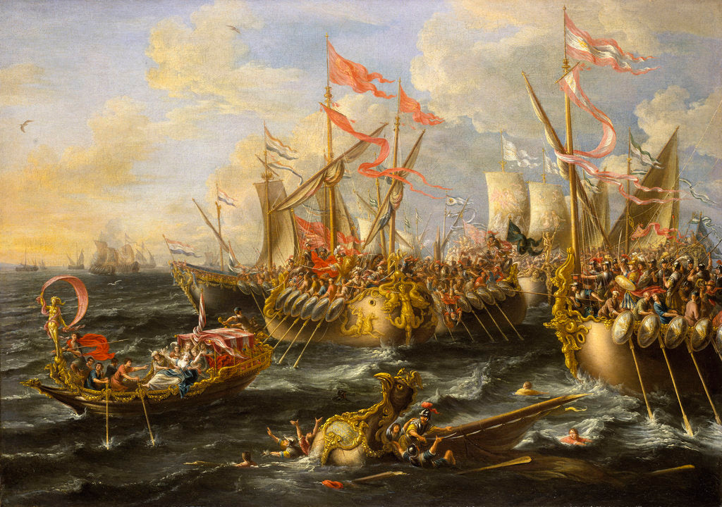 Detail of The Battle of Actium, 2 September 31 BC by Lorenzo A. Castro