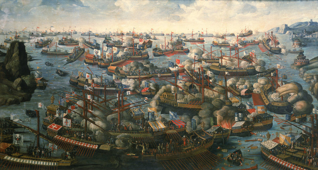 Detail of The Battle of Lepanto, 7 October 1571 by H. Letter