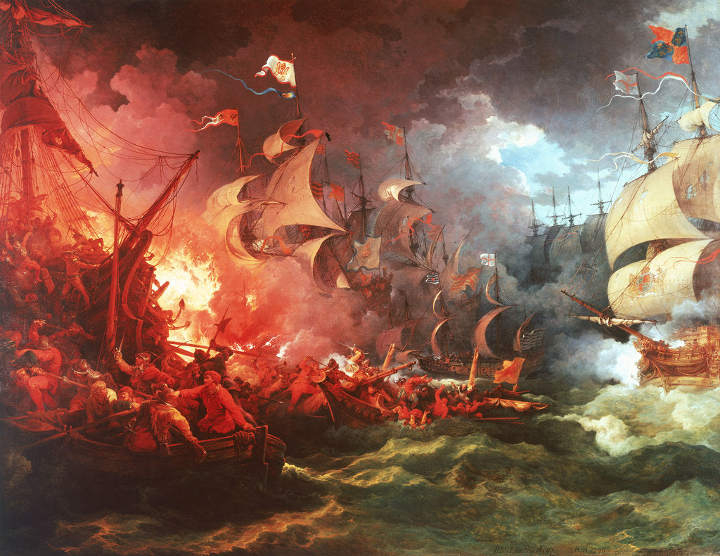 Detail of Defeat of the Spanish Armada, 8 August 1588 by Philippe-Jacques de Loutherbourg