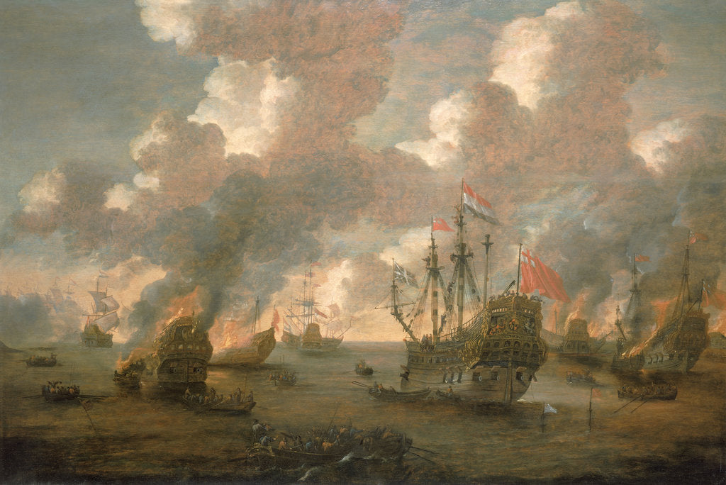 Detail of Dutch Attack on the Medway, 9-14 June 1667 by Pieter van den Velde