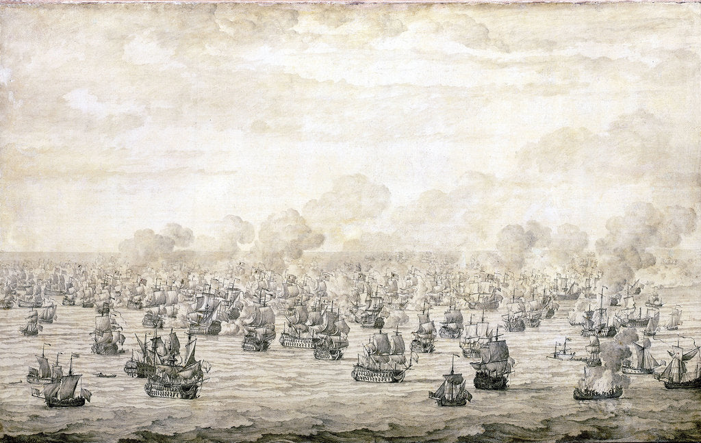 Detail of The first Battle of Schooneveld, 28 May 1673 by Willem van de Velde the Elder