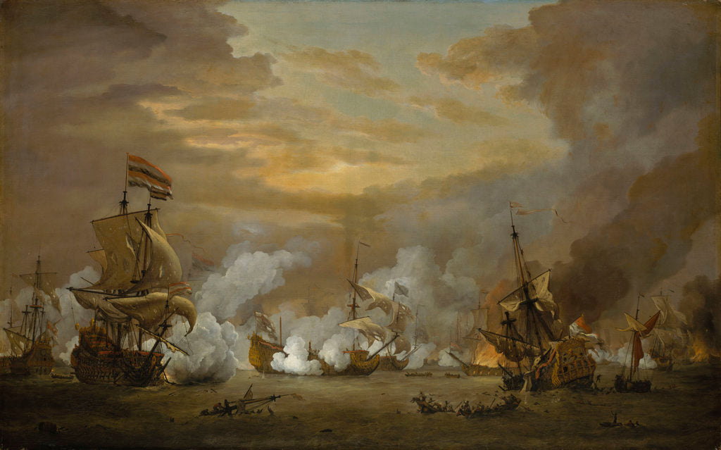 Detail of The Battle of the Texel, 11-21 August 1673 by Willem Van de Velde the Younger