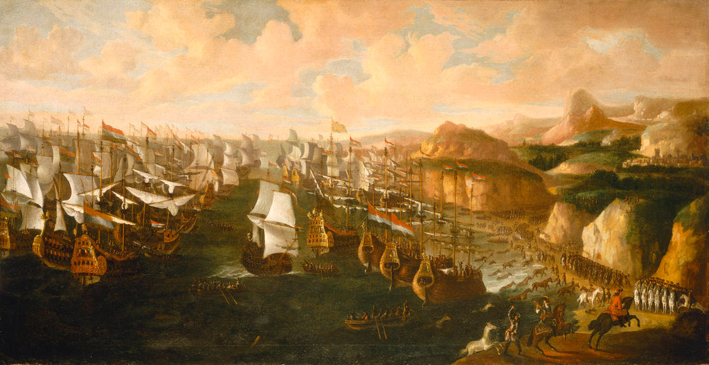 Detail of Landing of William III at Torbay, 5 November 1688 by English School