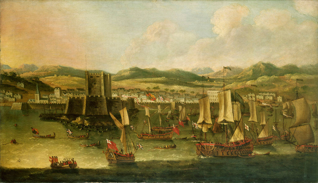 Detail of Landing of William III at Carrickfergus, 14 June 1690 by English School