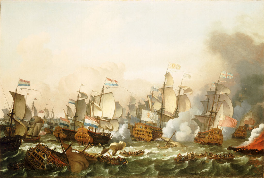 Detail of The Battle of Barfleur, 19 May 1692 by Ludolf Bakhuizen