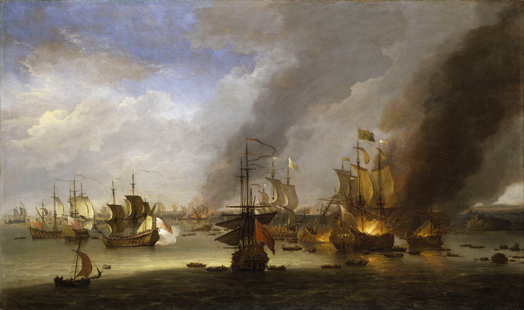 Detail of Destruction of the 'Soleil Royal' at the Battle of La Hogue, 23 May 1692 by Adriaen van Diest