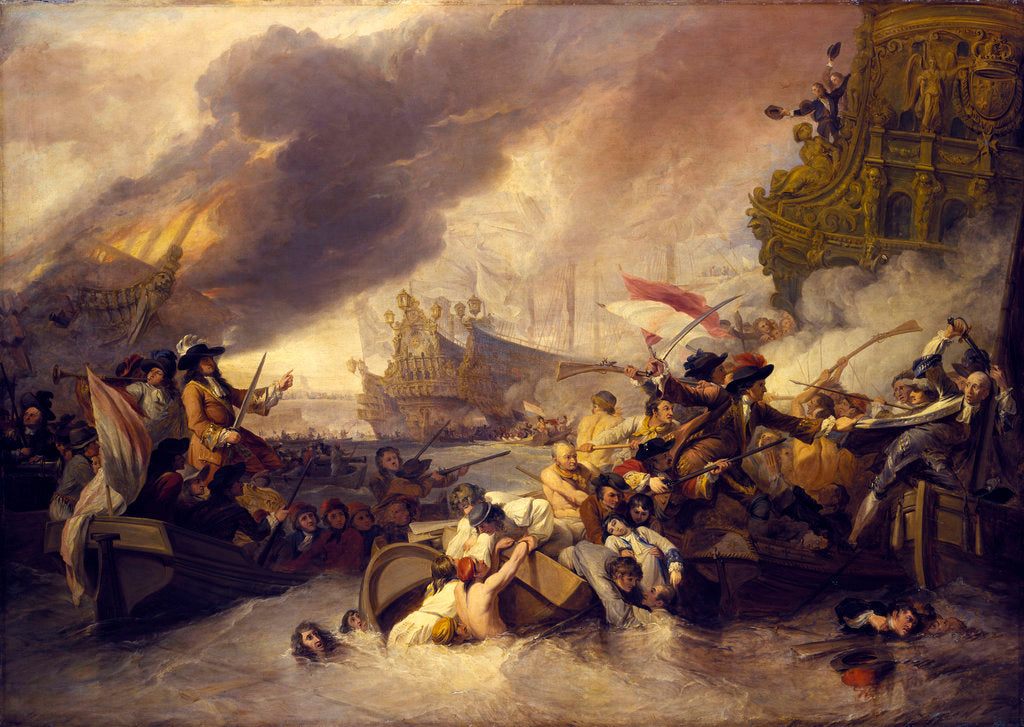 Detail of The Battle of La Hogue, 23 May 1692 by George Chambers