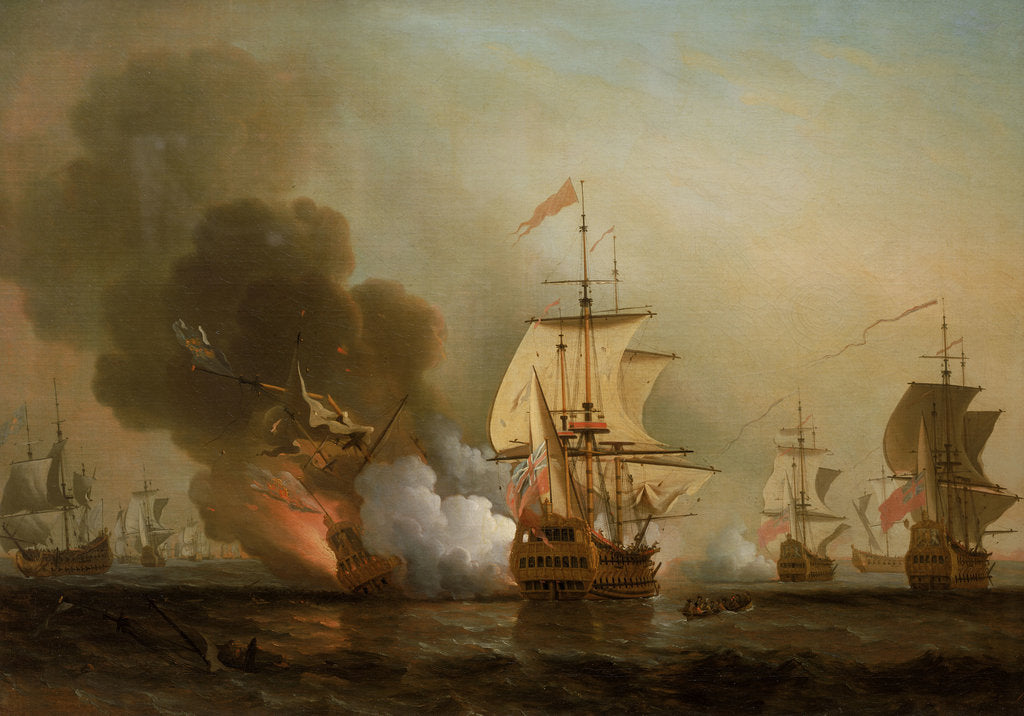 Detail of Action off Cartagena, 28 May 1708 by Samuel Scott