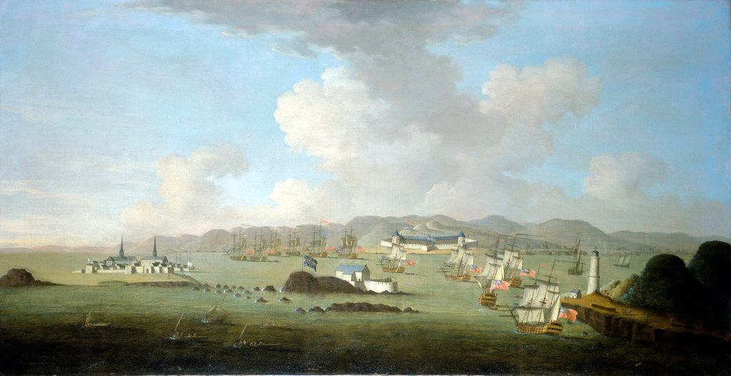 Detail of The capture of Louisburg, 28 June 1745 by Peter Monamy