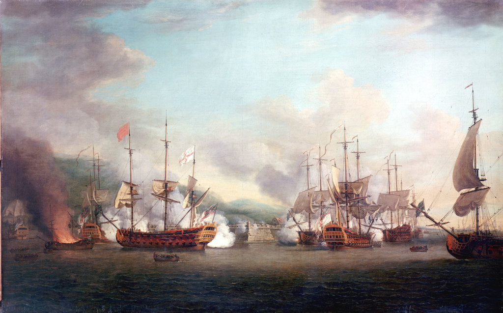Detail of The capture of Port Louis, Cuba, 8 March 1748 by Richard Paton