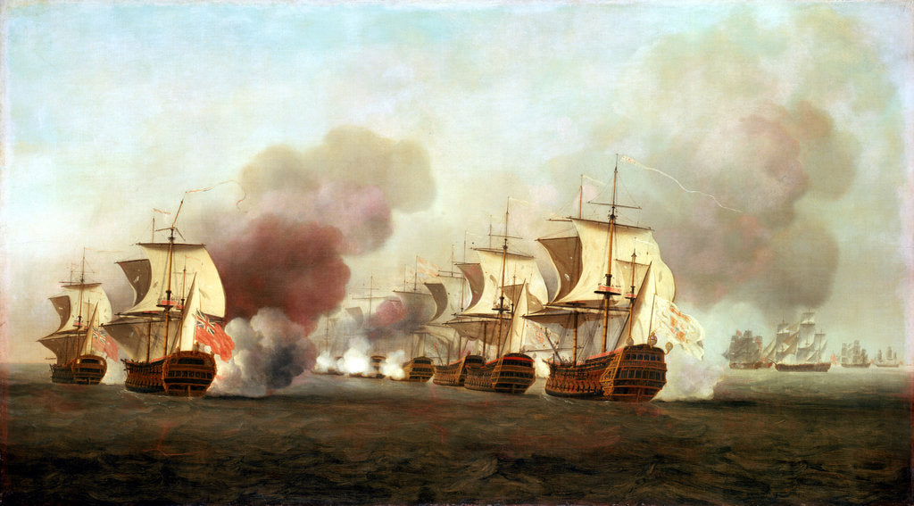 Detail of End of Knowles' action off Havana, 1 October 1748 by Samuel Scott