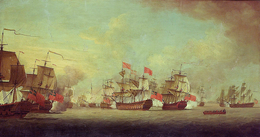 Detail of Knowle's action off Havana by Thomas Craskell