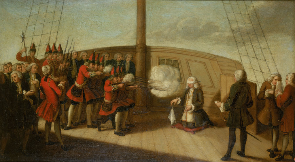 The execution of Admiral Byng, 14 March 1757 by British School