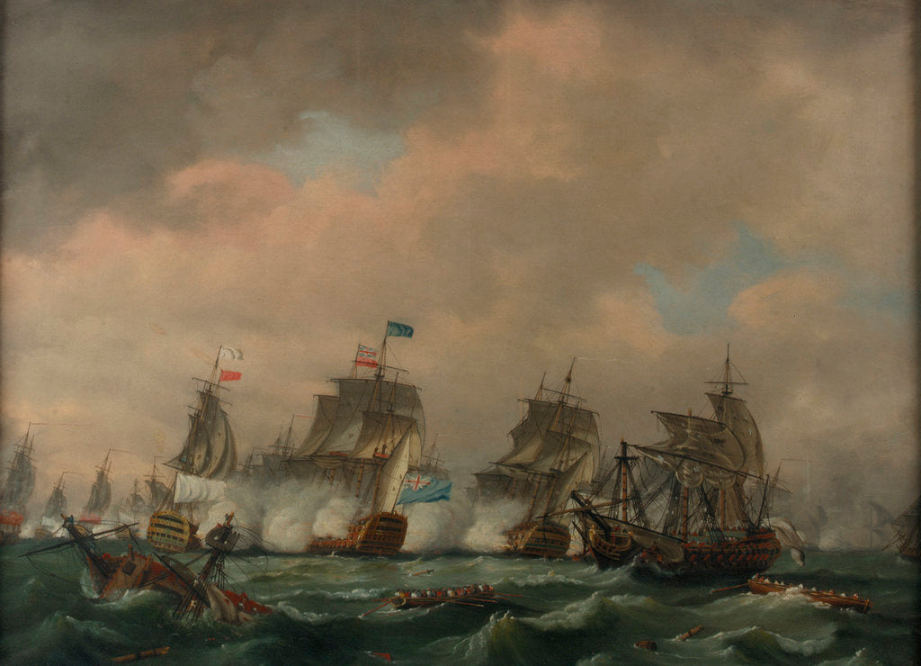 Detail of The Battle of Quiberon Bay, 20 November 1759 by Thomas Luny
