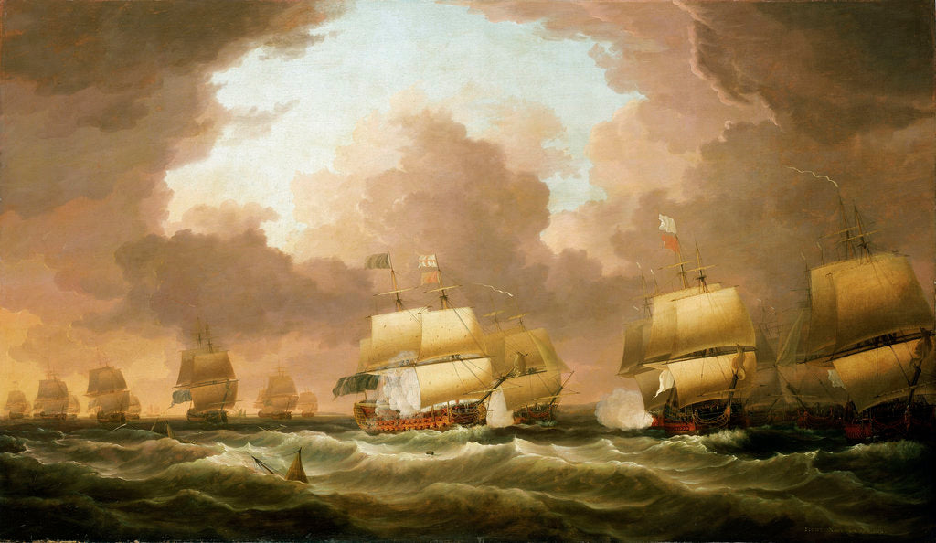 Detail of The Battle of Quiberon Bay, 20 November 1759 by Dominic Serres the Elder