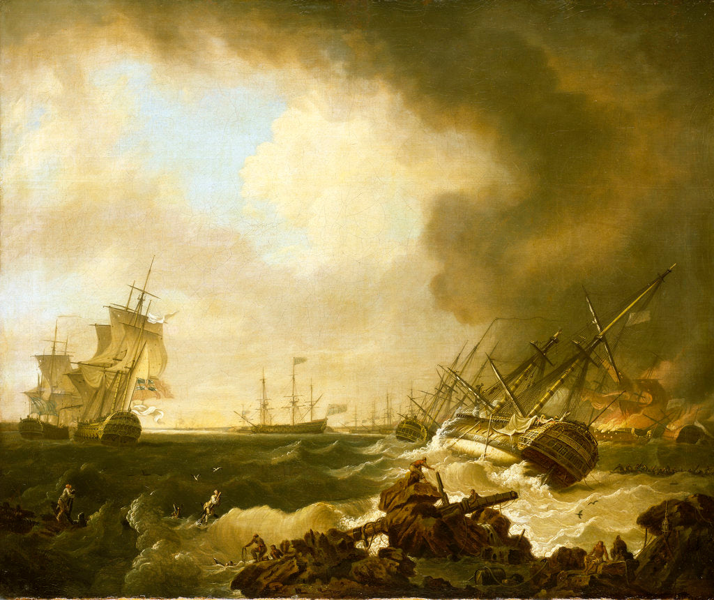 Detail of The Battle of Quiberon Bay, 21 November 1759: the Day After by Richard Wright