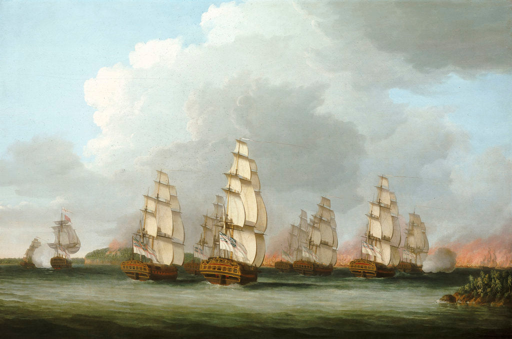 Destruction of the American Fleet at Penobscot Bay, 14 August 1779 by Dominic Serres the Elder