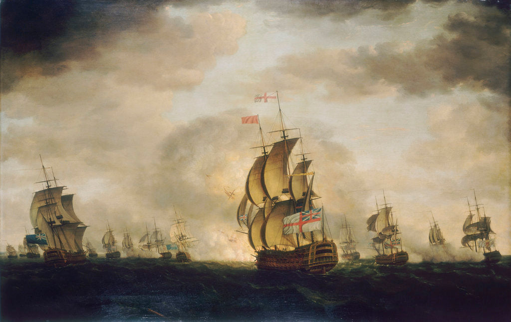 Detail of The Moonlight Battle: the Battle off Cape St Vincent, 16 January 1780 by Francis Holman