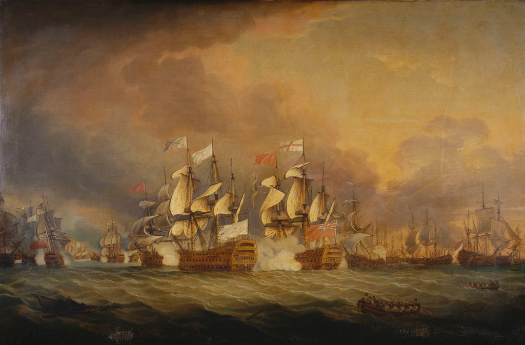 Detail of The Battle of the Saints, 12 April 1782 by Thomas Mitchell