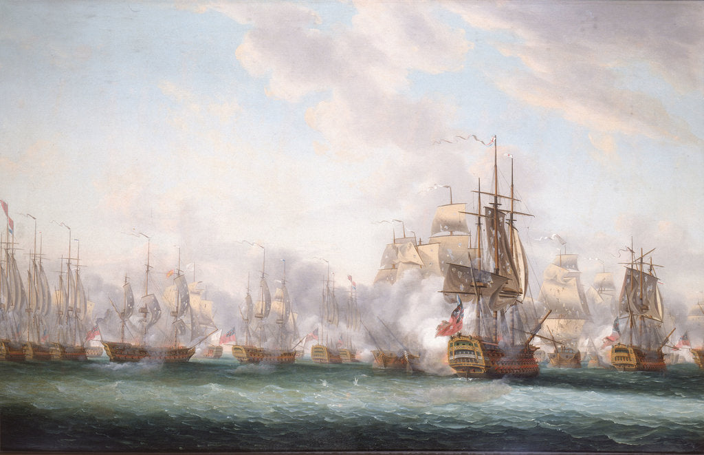 Detail of The Battle of the Saints, 12 April 1782 by Nicholas Pocock