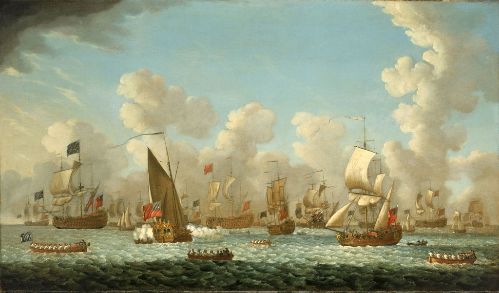 Detail of Naval review at Spithead, 1767 by Francis Swaine