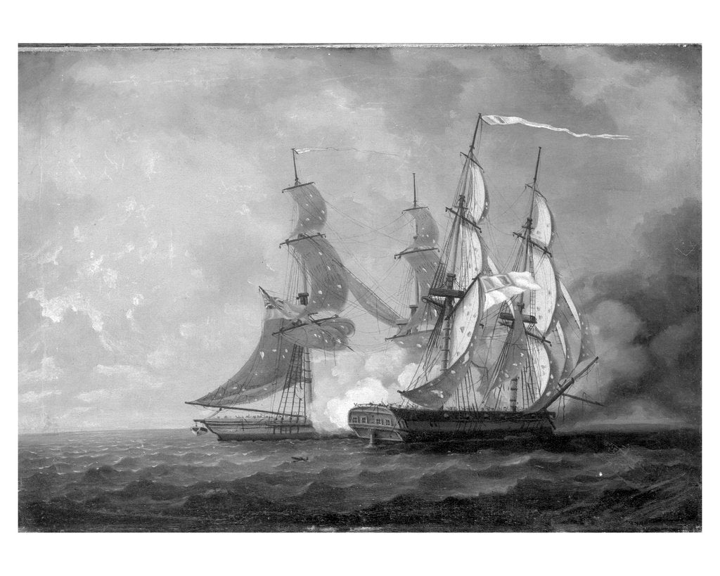 Detail of HMS 'Scourge' capturing the 'Sansculotte', 13 March 1793 by Thomas Yates