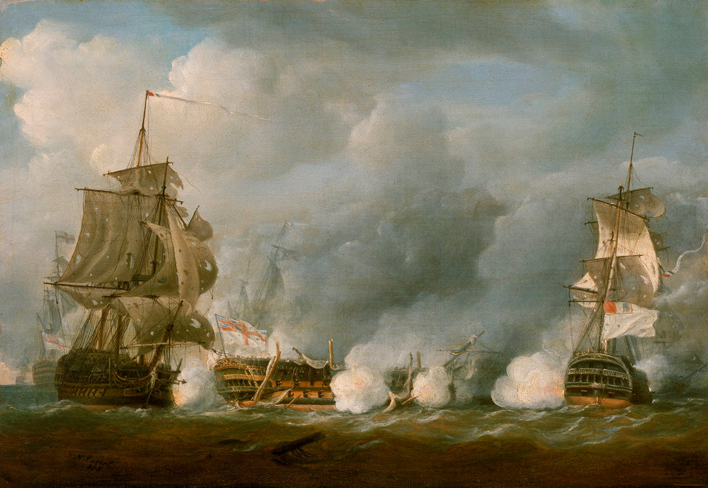 Detail of The 'Defence' at the Battle of the 1 June 1794 by Nicholas Pocock
