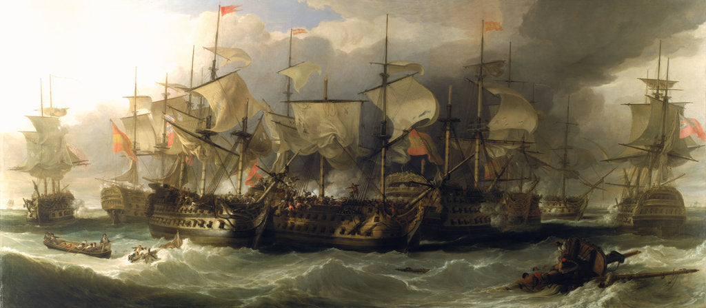 Detail of The Battle of Cape St Vincent, 14 February 1797 by William Allan