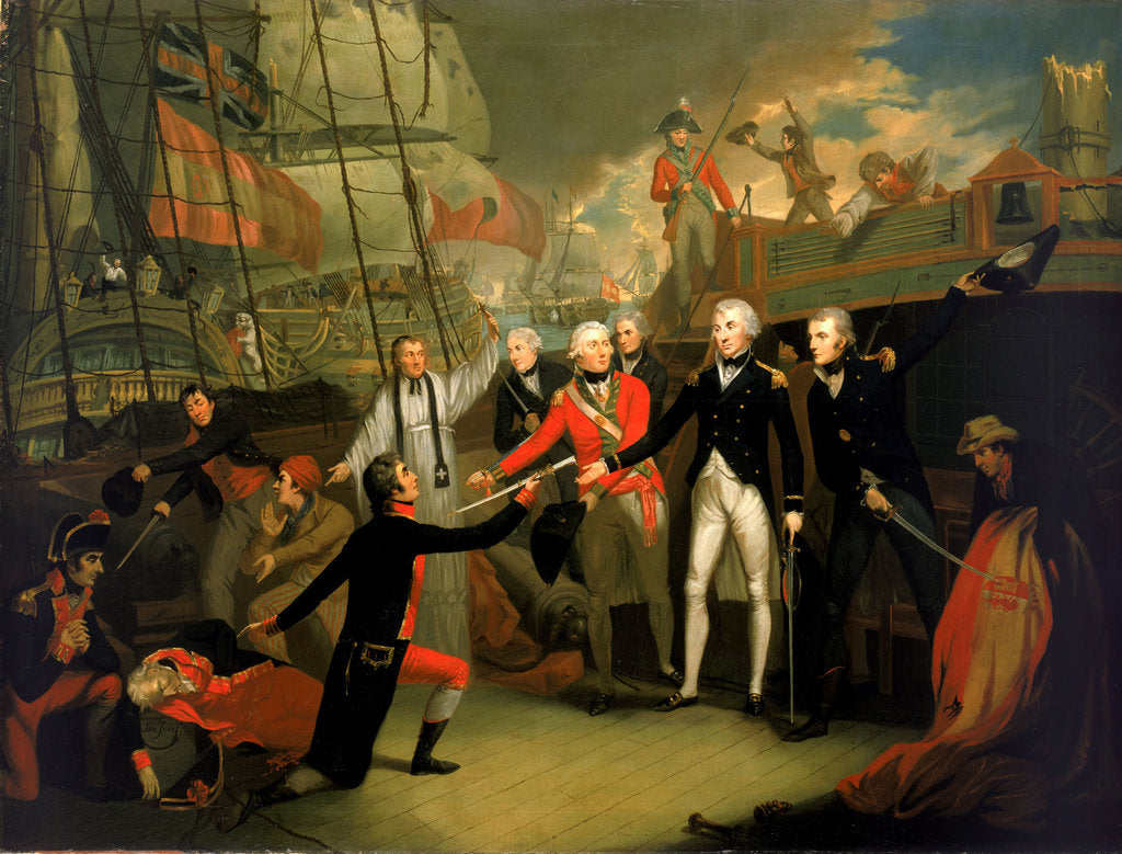 Detail of Nelson receiving the surrender of the 'San Josef' by Daniel Orme