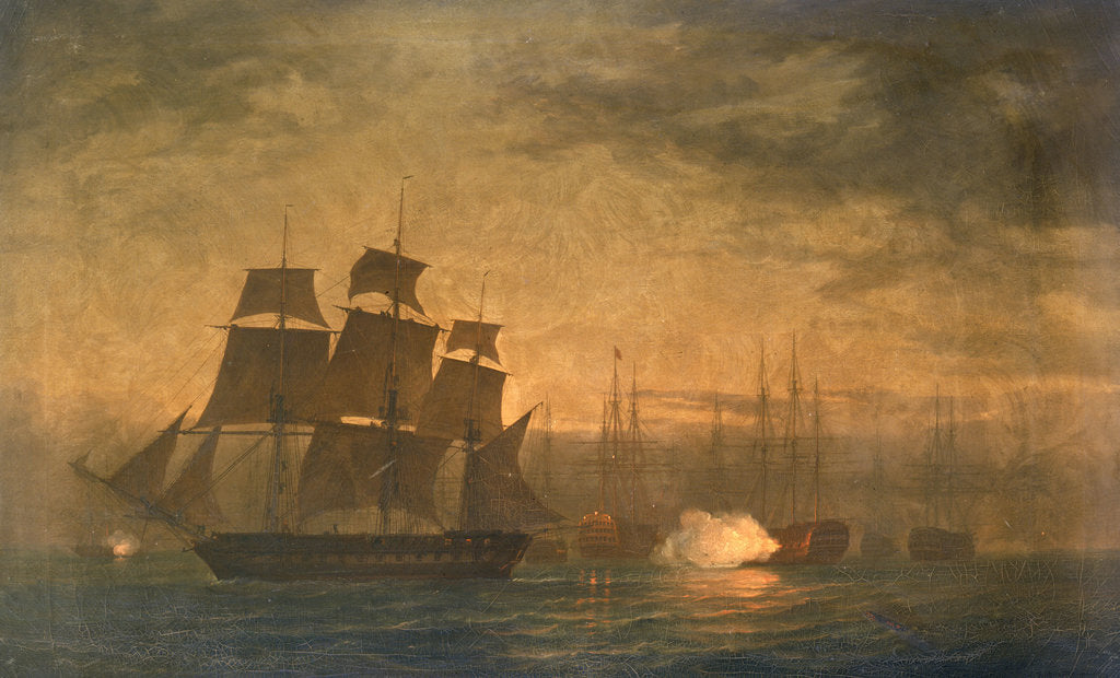 Detail of Escape of HMS 'Clyde' from the Nore mutiny, 30 May 1797 by William Joy