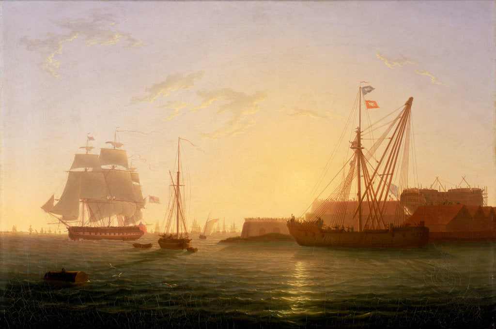 Detail of HMS 'Clyde' arriving at Sheerness after the 'Nore' mutiny, 30 May 1797 by William Joy