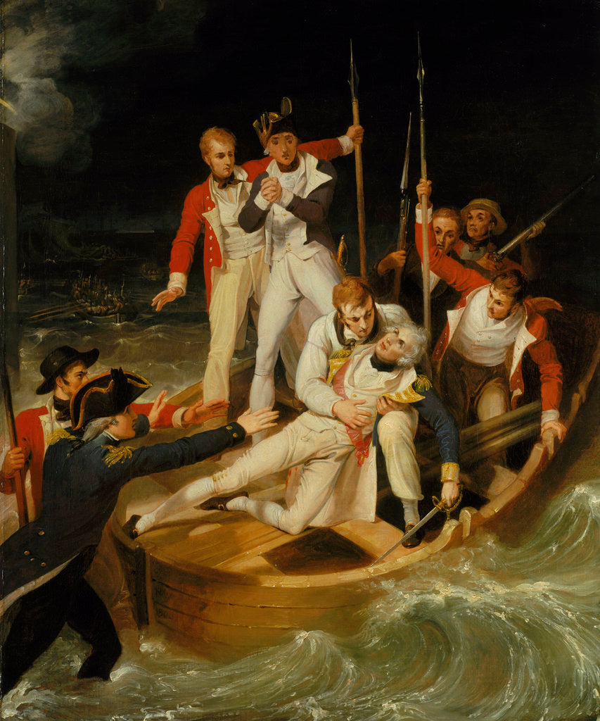 Detail of Nelson wounded at Tenerife, 24 July 1797 by Richard Westall
