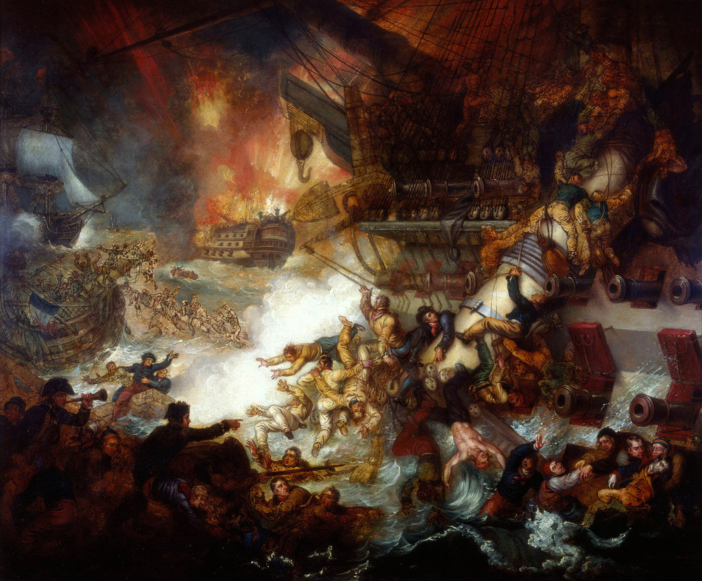 Detail of The Battle of the Nile: Destruction of 'L'Orient', 1 August 1798 by Mather Brown