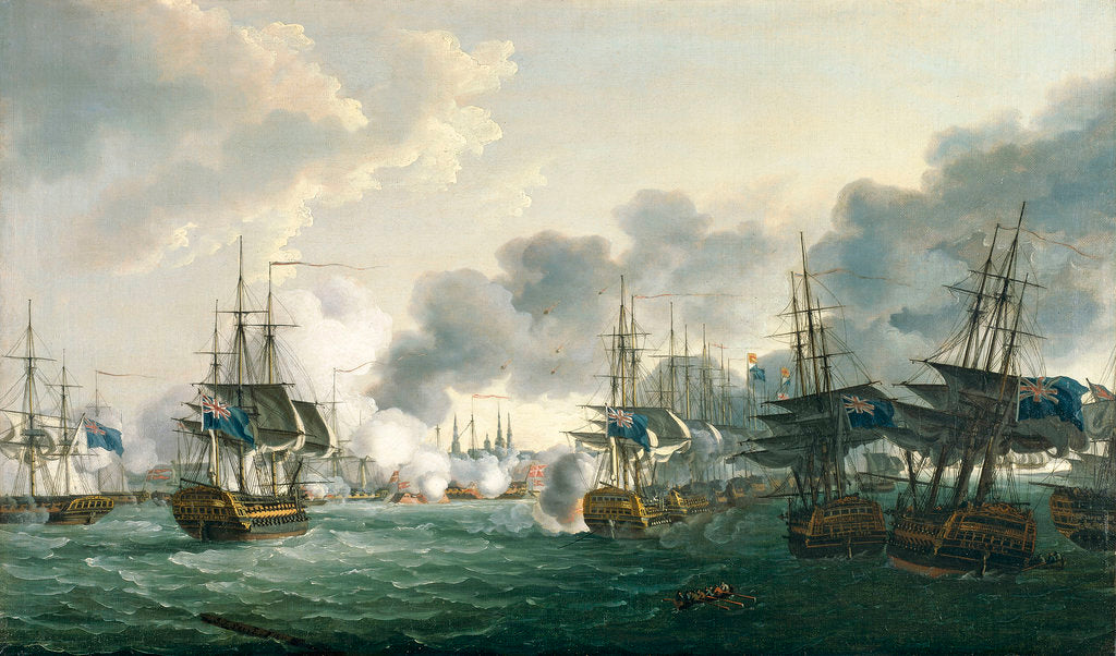 Detail of The Battle of Copenhagen, 2 April 1801 by John Thomas Serres
