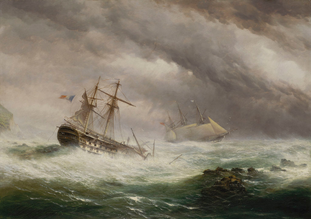 Detail of HMS 'Endymion' rescuing a French two-decker, 1803 by Ebenezer Colls