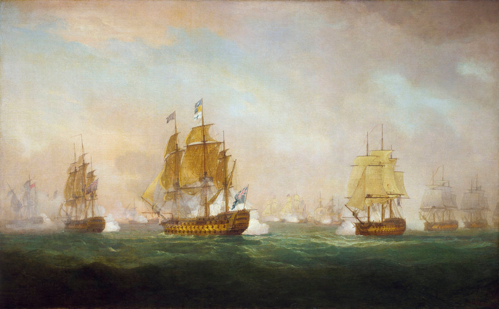Detail of Admiral Sir Robert Calder's action off Cape Finisterre, 23 July 1805 by William Anderson
