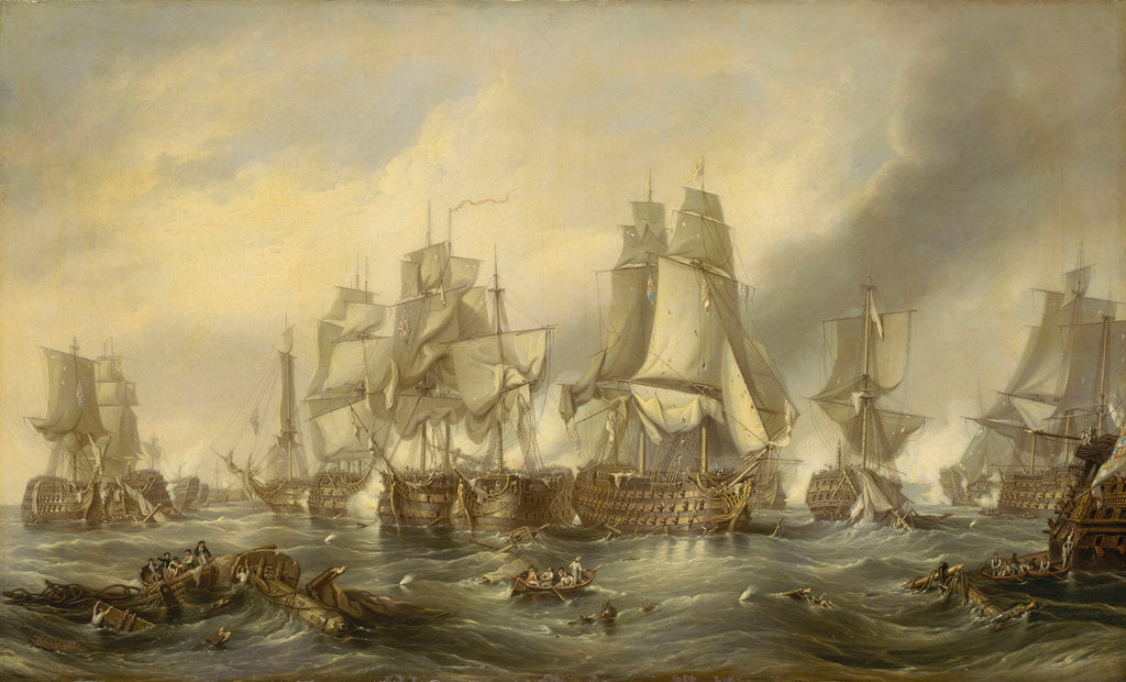 Detail of The Battle of Trafalgar, 21 October 1805 by George Chambers